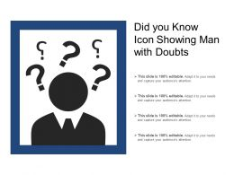 Did You Know Icon Showing Man With Doubts