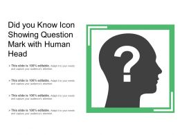 Did You Know Icon Showing Question Mark With Human Head