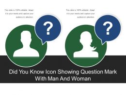 Did You Know Icon Showing Question Mark With Man And Woman