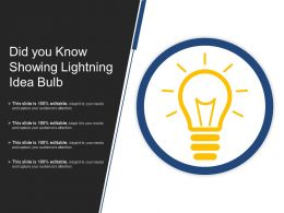 Did You Know Showing Lightning Idea Bulb