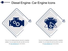 Diesel Engine Car Engine Icons