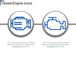 Diesel Engine Icons