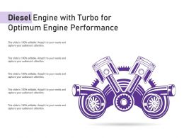 Diesel Engine With Turbo For Optimum Engine Performance