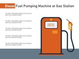 Diesel Fuel Pumping Machine At Gas Station