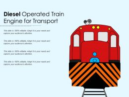 Diesel Operated Train Engine For Transport