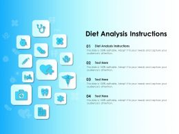 Diet Analysis Instructions Ppt Powerpoint Presentation Infographics Styles