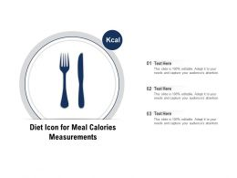 Diet Icon For Meal Calories Measurements