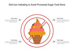 Diet Icon Indicating To Avoid Processed Sugar Food Items