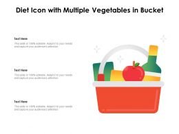 Diet Icon With Multiple Vegetables In Bucket