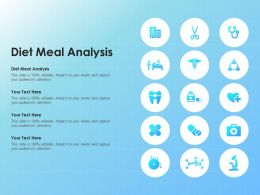 Diet Meal Analysis Ppt Powerpoint Presentation Slides Infographics