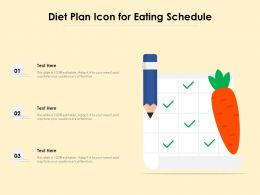 Diet Plan Icon For Eating Schedule