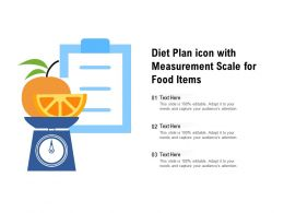 Diet Plan Icon With Measurement Scale For Food Items