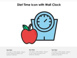 Diet Time Icon With Wall Clock