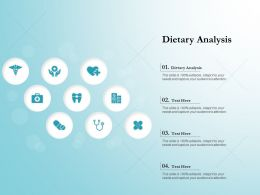 Dietary Analysis Ppt Powerpoint Presentation Slides Objects