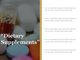 Dietary Supplements Example Of Ppt