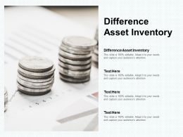 Difference Asset Inventory Ppt Powerpoint Presentation Outline Icons Cpb