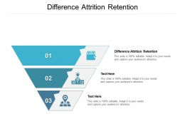 Difference Attrition Retention Ppt Powerpoint Presentation Infographics Icon Cpb