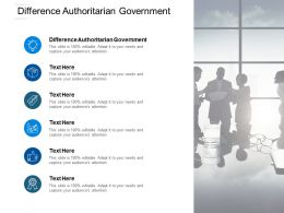 Difference Authoritarian Government Ppt Powerpoint Presentation Icon Cpb