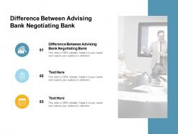 Difference Between Advising Bank Negotiating Bank Ppt Powerpoint Presentation Infographic Template Cpb