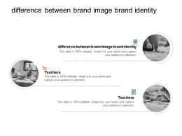 Difference Between Brand Image Brand Identity Ppt Powerpoint Presentation Layouts Styles Cpb