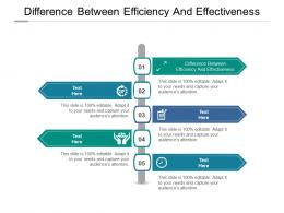 Difference Between Efficiency And Effectiveness Ppt Powerpoint Presentation Styles Ideas Cpb