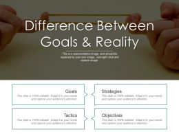 Difference Between Goals And Reality Ppt Slide Styles