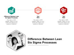 Difference Between Lean Six Sigma Processes Ppt Powerpoint Presentation Slide Download Cpb