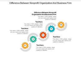 Difference Between Nonprofit Organization And Business Firm Ppt Powerpoint Presentation Cpb