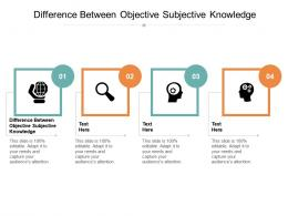 Difference Between Objective Subjective Knowledge Ppt Powerpoint Presentation Model Files Cpb