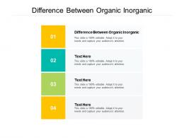 Difference Between Organic Inorganic Ppt PowerPoint Presentation Gallery Maker Cpb