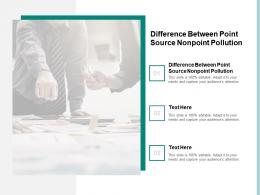 Difference Between Point Source Nonpoint Pollution Ppt Powerpoint Presentation Model Cpb
