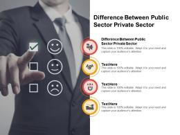 Difference Between Public Sector Private Sector Ppt Powerpoint Presentation Outline Infographics Cpb