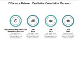 Difference Between Qualitative Quantitative Research Ppt Powerpoint Presentation Inspiration Diagrams Cpb