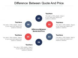 Difference Between Quote And Price Ppt Powerpoint Presentation Infographic Template Graphic Images Cpb
