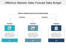 Difference Between Sales Forecast Sales Budget Ppt Powerpoint Presentation Ideas Example Cpb