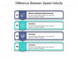 Difference Between Speed Velocity Ppt PowerPoint Presentation Infographic Template Slide Cpb