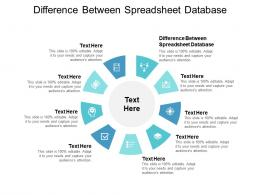 Difference Between Spreadsheet Database Ppt Powerpoint Presentation Summary Designs Cpb