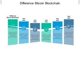 Difference Bitcoin Blockchain Ppt Powerpoint Presentation Ideas Templates Cpb