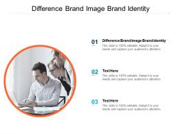 Difference Brand Image Brand Identity Ppt Powerpoint Presentation Pictures Sample Cpb