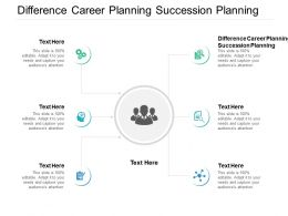 Difference Career Planning Succession Planning Ppt Powerpoint Presentation Inspiration Pictures Cpb