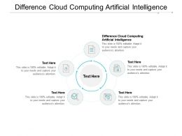 Difference Cloud Computing Artificial Intelligence Ppt Powerpoint Presentation Good Cpb