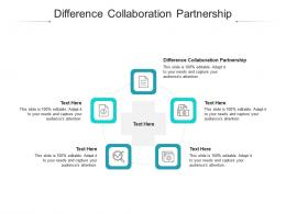 Difference Collaboration Partnership Ppt Powerpoint Presentation File Formats Cpb