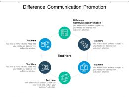Difference Communication Promotion Ppt Powerpoint Presentation Layouts Ideas Cpb