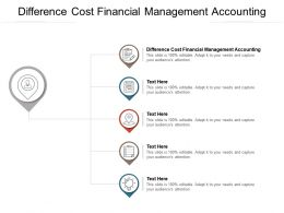 Difference Cost Financial Management Accounting Ppt Powerpoint Presentation Outline Cpb