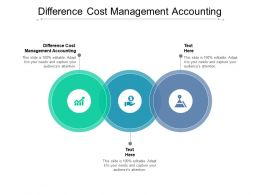 Difference Cost Management Accounting Powerpoint Presentation Professional Backgrounds Cpb