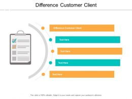 Difference Customer Client Ppt Powerpoint Presentation Infographic Template Templates Cpb