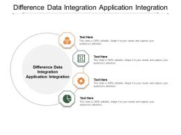 Difference Data Integration Application Integration Ppt Powerpoint Presentation Summary Templates Cpb