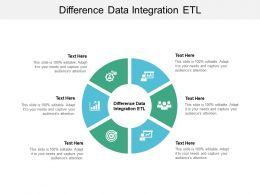 Difference Data Integration ETL Ppt Powerpoint Presentation Gallery Rules Cpb
