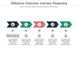 Difference Deductive Inductive Reasoning Ppt Powerpoint Presentation Layouts Design Inspiration Cpb