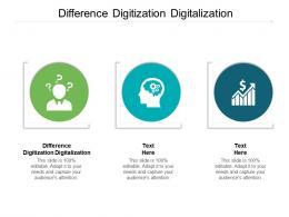 Difference Digitization Digitalization Ppt Powerpoint Presentation Portfolio Gridlines Cpb